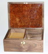 Walnut and Elm Burl Heirloom Box