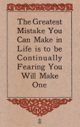Elbert Hubbard - Greatest Mistake ...
